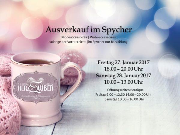 Ausverkauf Spycher