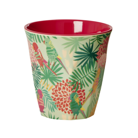 rice Cup Melamine Tropical Print