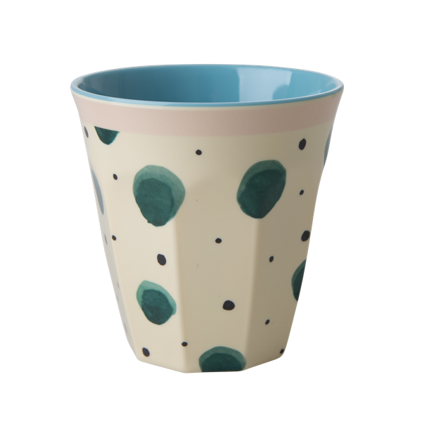 Melamine Cup with Watercolor Splash Print