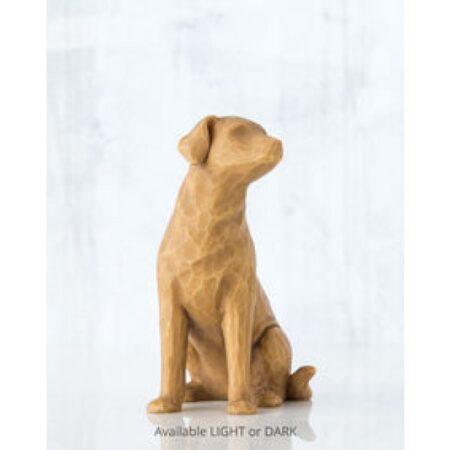 """Willow Tree Figur """"Ich liebe meinen Hund"""" (hell)"""