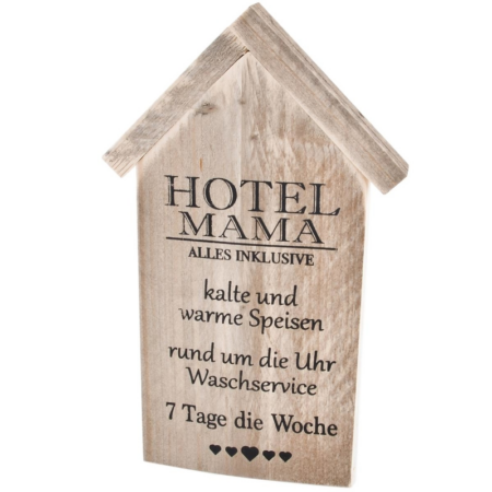 Holzschild Hotel-Mama