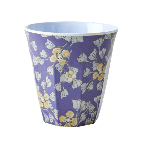 RICE Melamine Cup - Two Tone - Hanging Flower Print