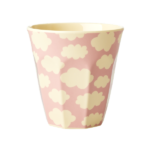 Melamine Cup with Cloud Print – Pink –