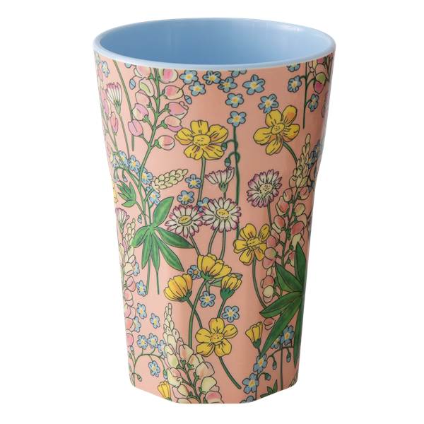 Melamine Cup with Lupin Prin coral