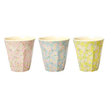 with Small Flower Print in 3 Assorted Colors - Medium