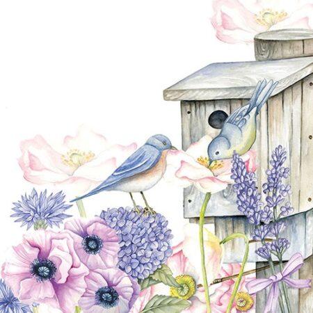 Serviette Birdhouse Backyard 13311220