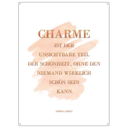 Metallschild Charme 21531
