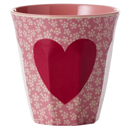RICE Melamine Cup with Heart Print