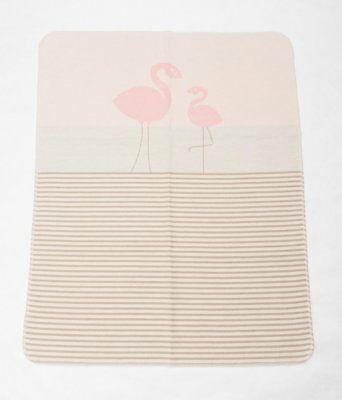 David Fussenegger Decke JUWEL Flamingo 6800-14