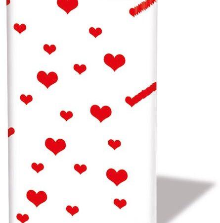 Taschentücher Lots of Hearts red 12206286
