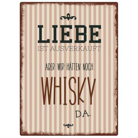 Metallschild Whisky 22991