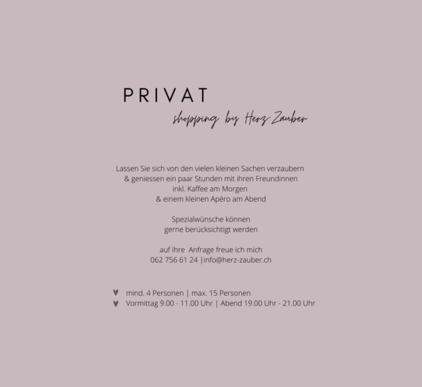Privat-Shopping