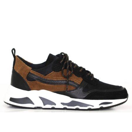 Sneaker Juul&Belle Black-Cognac