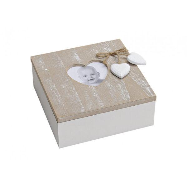 Holzbox mit Herz 10020405