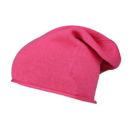 """100% Kaschmir Beanie """"Uni Luxus"""" pink"""