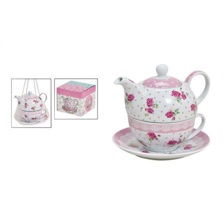 Teekannen-Set mit Tasse+Teller 10012235