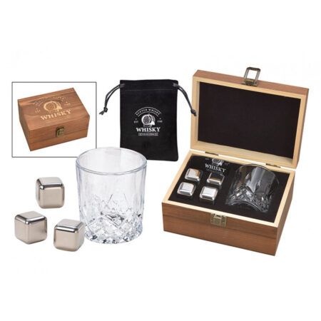 Whisky Eiswürfel Set aus Edelstahl 10040965