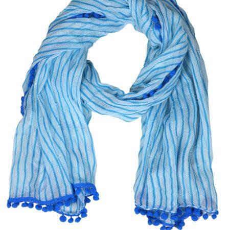 """Schal BW """"Summer Tassel"""" blau"""